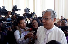 新当选缅甸总统吴廷觉向议会递交新政府组建计划