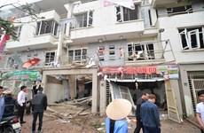 阮春福副总理指导克服河内市河东郡文富都市区爆炸事故后果