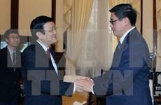 越南国家主席张晋创会见外国客人
