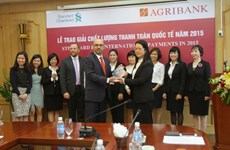 越南农业与农存发展银行荣获2015年度国际清算质量奖