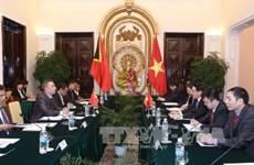 东帝汶外交与合作部长科埃略对越南进行正式访问