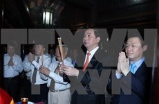 国家主席陈大光出席宁平省长安传统文化节