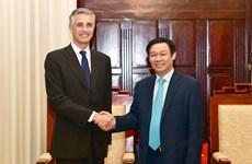 越南政府副总理王廷惠会见国际货币基金组织第四条款磋商代表团