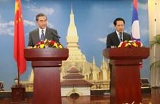 中国外交部长王毅对老挝进行访问