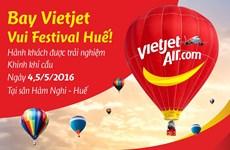 越捷航空公司给乘客免费体验热气球飞行之旅的机会