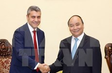 越南政府总理阮春福会见高盛集团领导