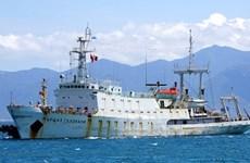 俄太平洋舰队水文测量船访问庆和省