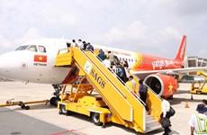 4•30和5•1假期期间越捷航空公司共计执行航班1700班次