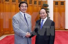 越南政府总理阮春福会见日本文部科学大臣驰浩