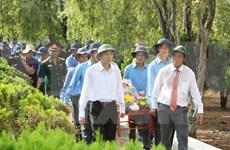 在柬烈士遗骸悼念安葬仪式在得乐省举行