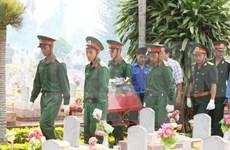 牺牲老挝的越南烈士遗骸安葬仪式在承天顺化举行