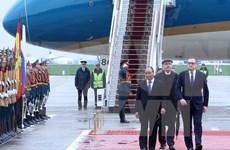 越南政府总理阮春福抵达莫斯科开始对俄罗斯进行正式访问