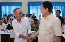胡志明市委书记丁罗升会见该市选民