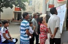 选举日临近:坚江省富国县土珠岛乡举行提前投票