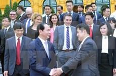 越南国家主席陈大光会见文莱王子阿都卡辉