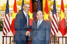 越南政府总理阮春福会见美国总统奥巴马