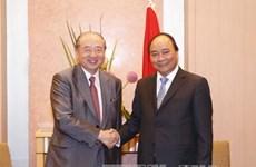 越南政府总理阮春福会见日本三菱集团总裁