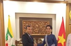 越南外交部副部长武宏南同缅甸外交部代表举行工作会议