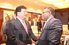 政府副总理郑廷勇会见东帝汶和印尼领导