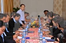 越通社与老挝巴特寮通讯社加强业务交流加深双方团结之情