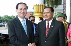 越南国家主席陈大光访问老挝占巴塞省(组图)