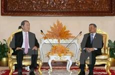 国家主席陈大光会见柬埔寨领导人