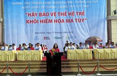 2016年禁毒行动月响应集会在南定省举行