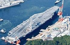 美海军双航母战斗群在菲律宾海展开演习