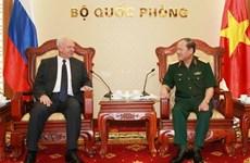 越南国防部和总参谋部领导人会见外国客人
