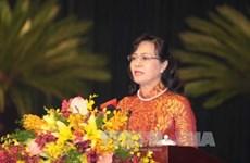 阮氏决心女士再次当选胡志明市第九届人民议会主席