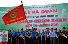 胡志明市正式启动第十次绿色行军志愿活动