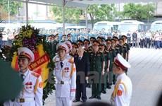 越南党和国家领导出席CASA-212失事飞机9名飞行员遗体告别仪式