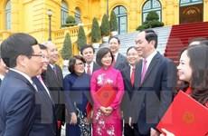 越南国家主席陈大光:应主动并灵活地开展对外任务