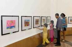 """""""请让太阳永远照耀下去""""儿童画展在河内举行"""