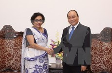 阮春福总理会见斯里兰卡驻越大使