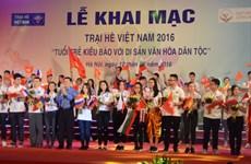 """""""海外青年侨胞与民族文化遗产""""的2016年越南夏令营正式开营"""