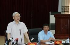 越共中央总书记阮富仲莅临莱州省调研指导工作