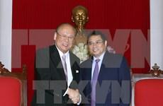 越共中央组织部部长范明政会见日越友好议员联盟特别顾问武部勤