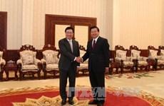 老挝领导人高度评价越老良好的合作关系