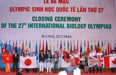 2016年国际生物奥林匹克竞赛在河内闭幕