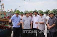 越南政府副总理郑廷勇视察太平省防洪工作