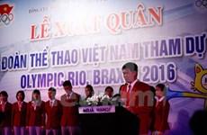 里约奥运越南体育代表团升旗仪式在巴西里约奥运村举行