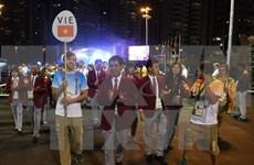 越南体育代表团举行2016年奥运会升旗仪式