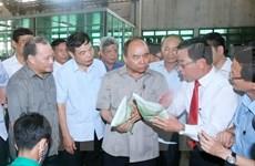 阮春福总理莅临太平省实地考察新农村建设情况