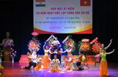 印度共和国独立日69周年纪念典礼在越南胡志明市举行