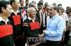 越南祖国阵线中央委员会主席阮善仁赴嘉莱省走访调研