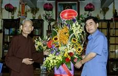 越南政府宗教委员会领导盂兰盆节之际走访慰问越南佛教协会教职人员