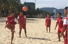 越南沙滩足球队参加2016年首届亚洲沙滩足球锦标赛