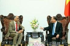 越南政府总理阮春福会见印度驻越大使帕尔瓦塔纳尼·哈里什