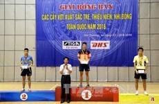 海阳队在2016年越南全国青少年乒乓球比赛取得最佳成绩